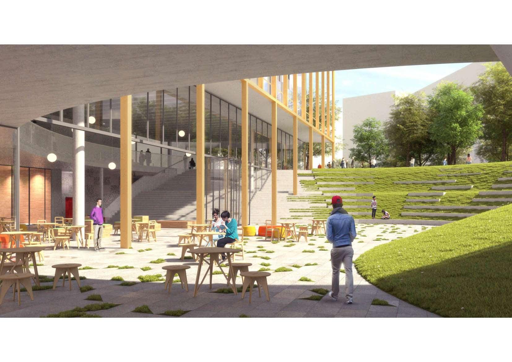 learning and innovation center elsene<span>2016, brussel, wedstrijd, kantoren, school</span>